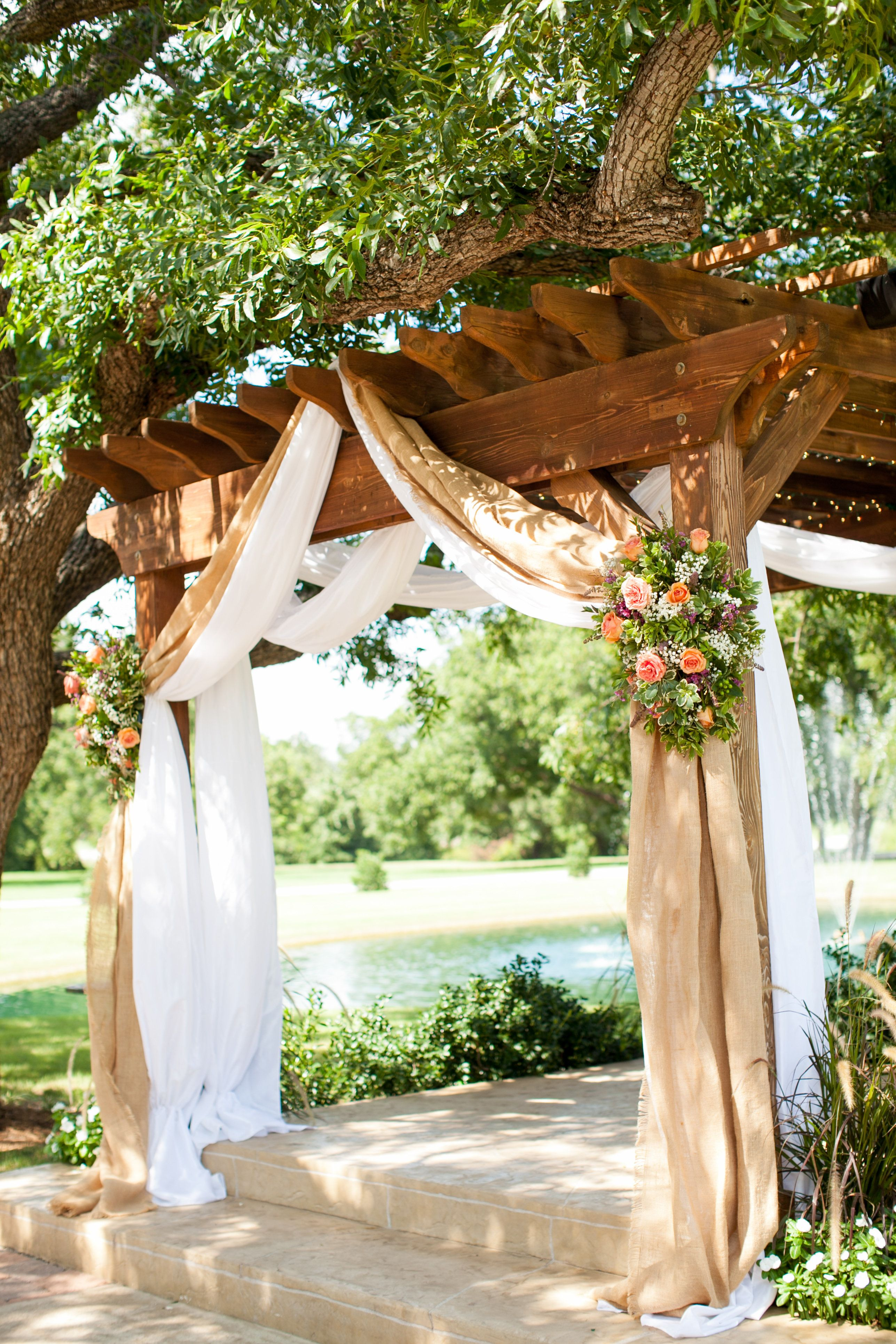 chelsie wedding details 0003 wedding arch rustic burlap on classy backyard design ideas may be you never think id=26196