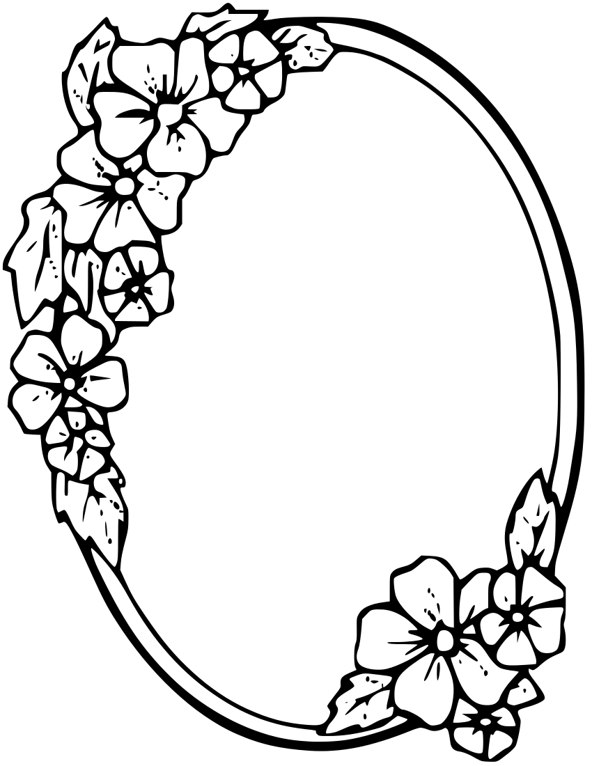 Oval Frame Tattoo Designs Floral page Frames