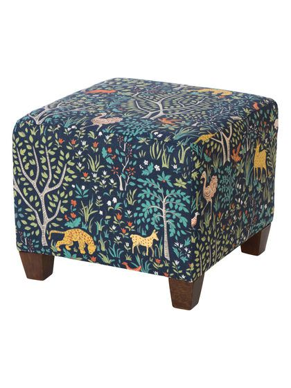 Cool Square Nail Button Ottoman By Skyline Furniture At Gilt Beatyapartments Chair Design Images Beatyapartmentscom