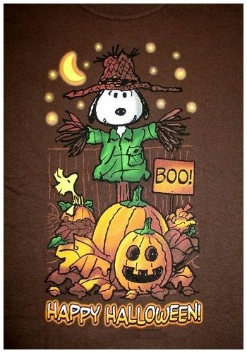 Snoopy Scarecrow Halloween T Shirt