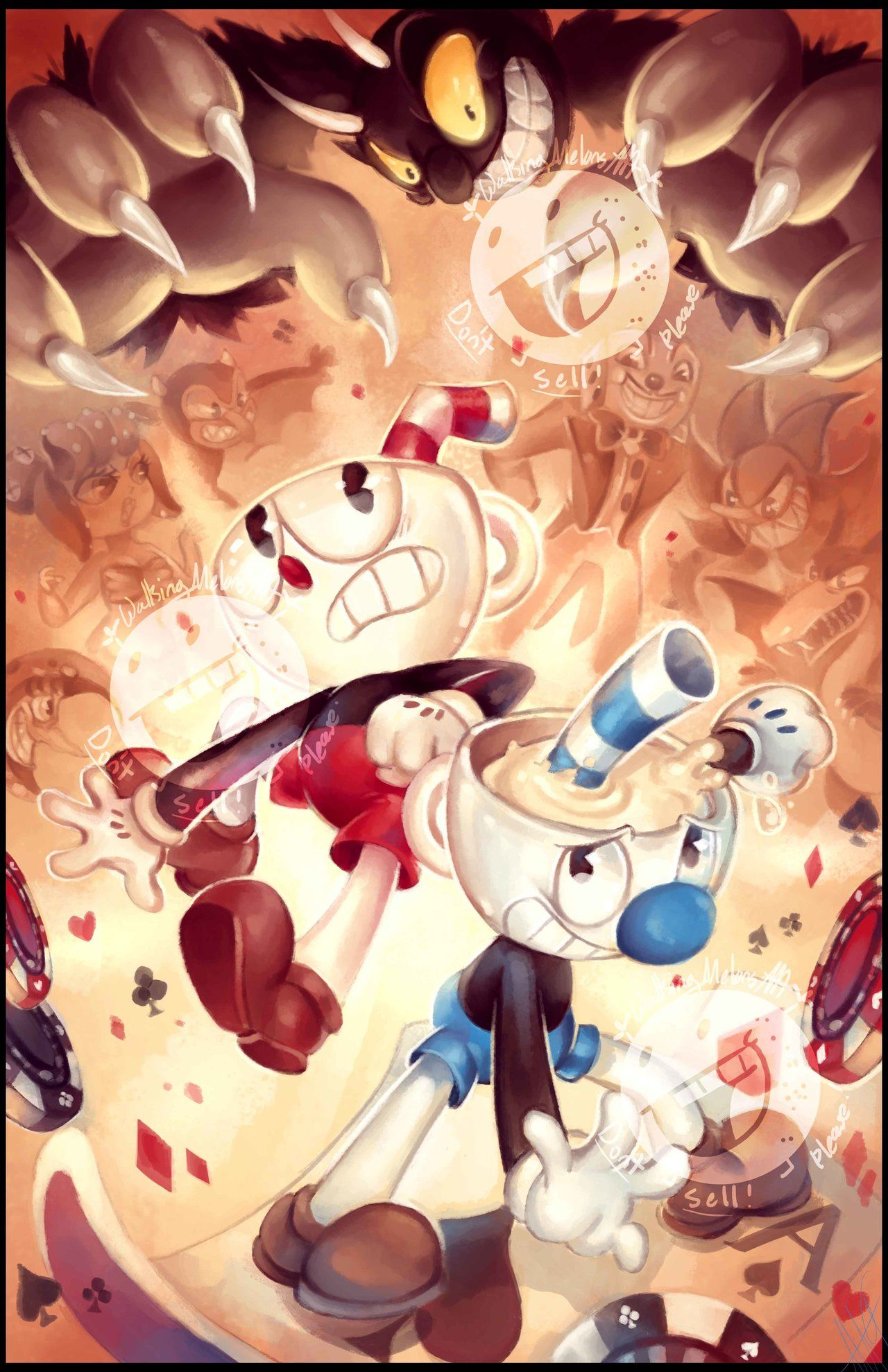 Pin on old cartoons characters/cuphead