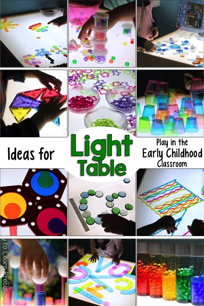 Photo of Light Table Activities and Ideas for the Preschool Classroom
