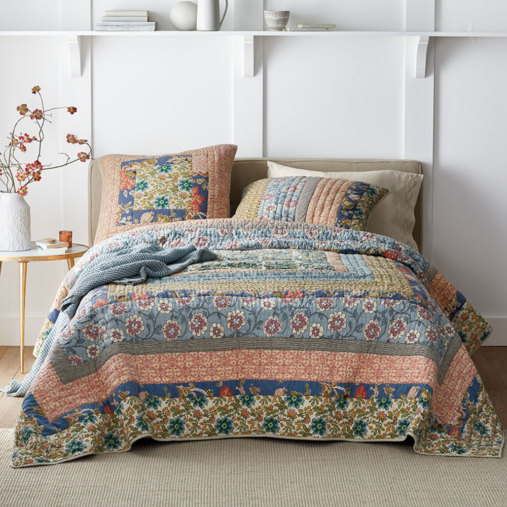 Langford Pieced AllCotton Quilt & Sham The Company