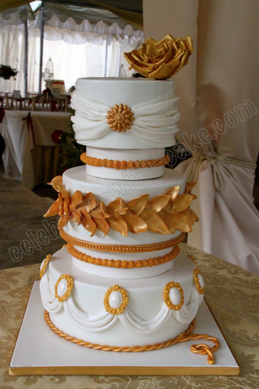 Grecian Themed Wedding Cake By Celebrate With Cake In Singapore