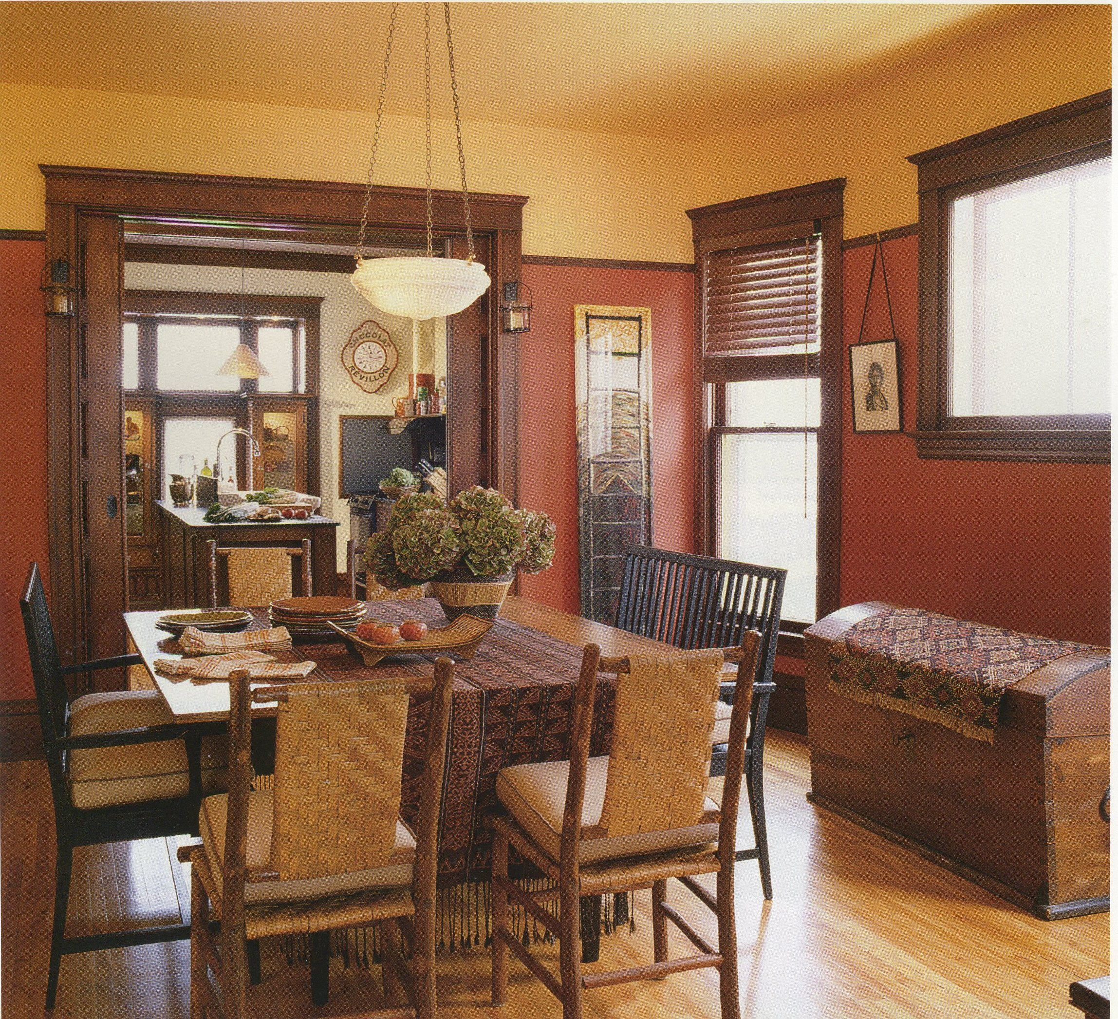 Best Dining Room Colors: Craftsman Dining Room