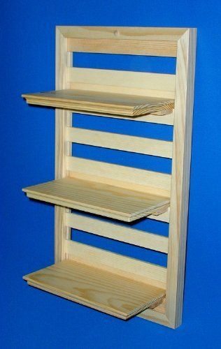 Wood Wall Shelf 12 Inches Wide X 22 Inches High With Three 10