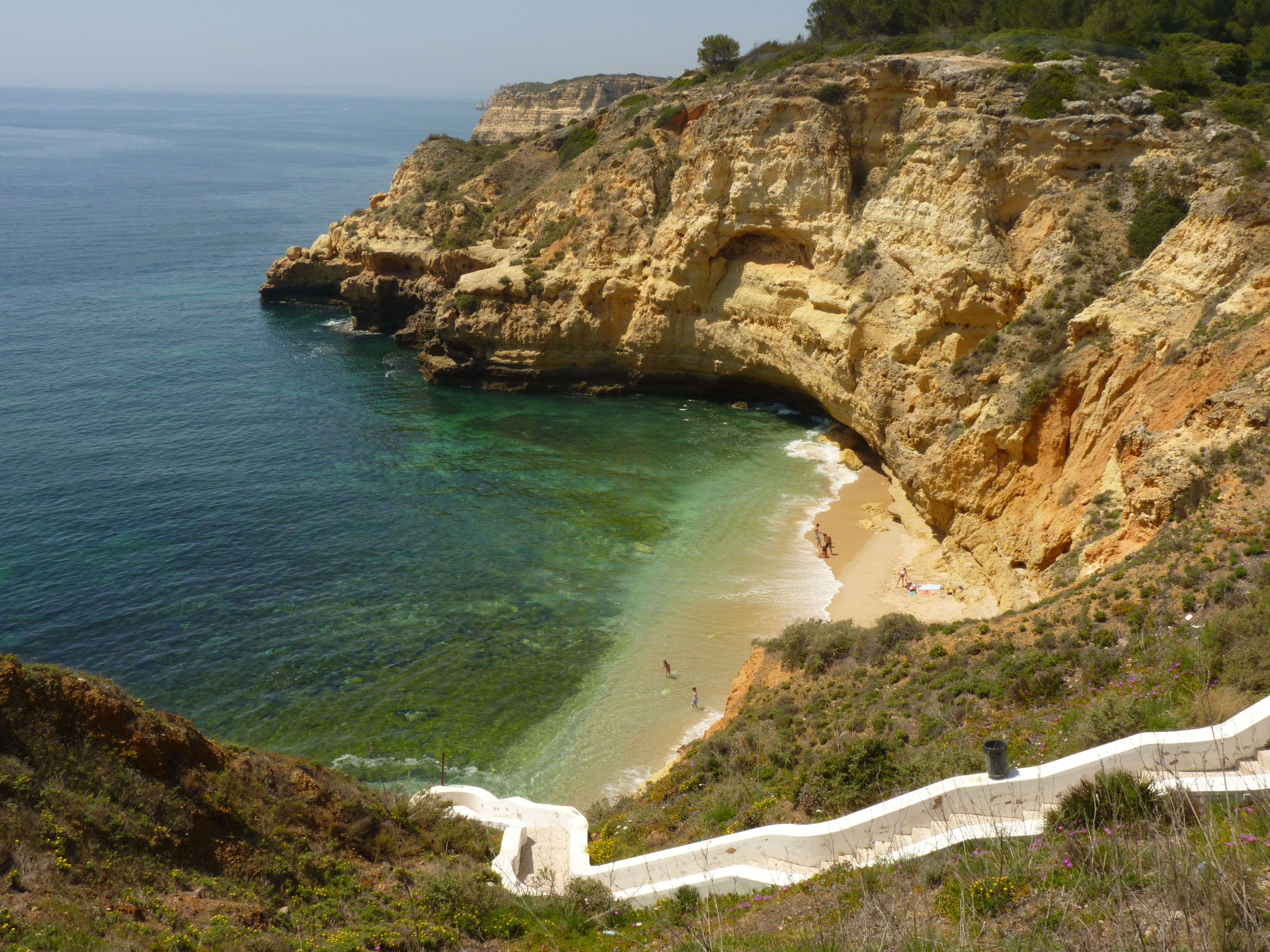 Paraiso Beach  400 meters from Carvoeiro Algarve  by road going