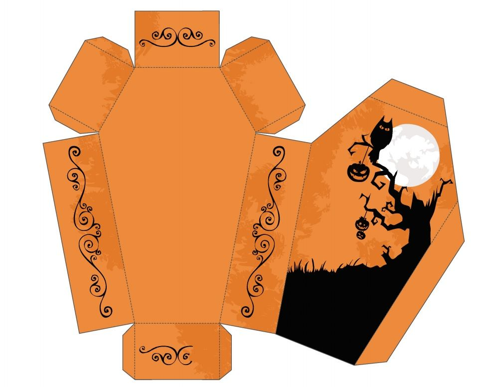 Coffin printable box for halloween halloween crafts for Idee deco halloween