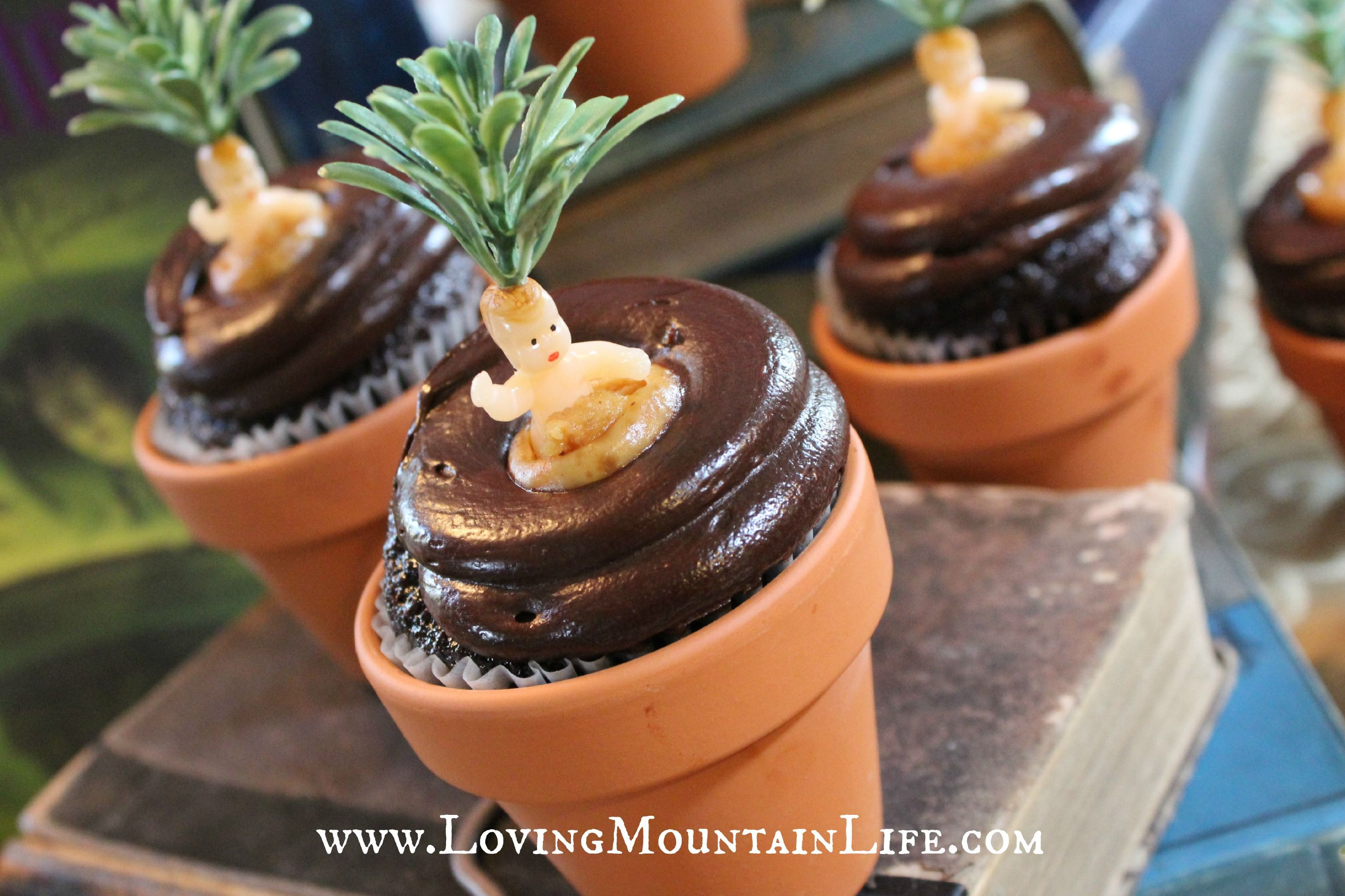 Diy Mandrake Cupcakes At A Harry Potter Party Very Clever Loving