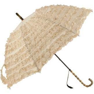 Fifi Frilly Vintage Look Wedding Bridal Umbrella Parasole Cream / Beige | eBay