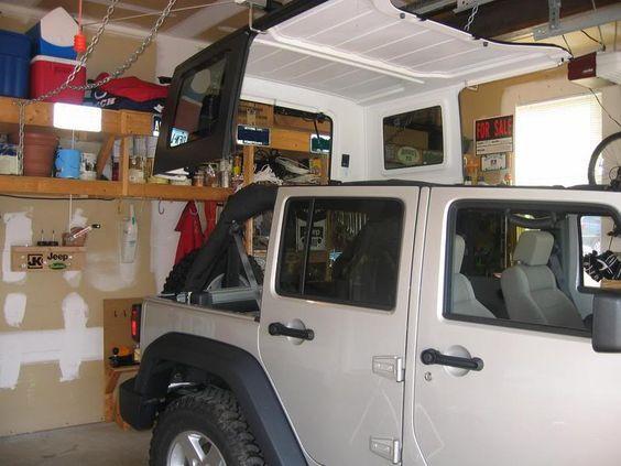 I Absolutely Love This Idea Jk Forum Com The Ultimate Jeep Jk Wrangler Bulletin Board Jeep Jk Jeep Hardtop Storage Jeep Tops