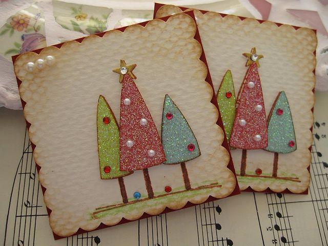 Glittery Christmas Tree Embellishments