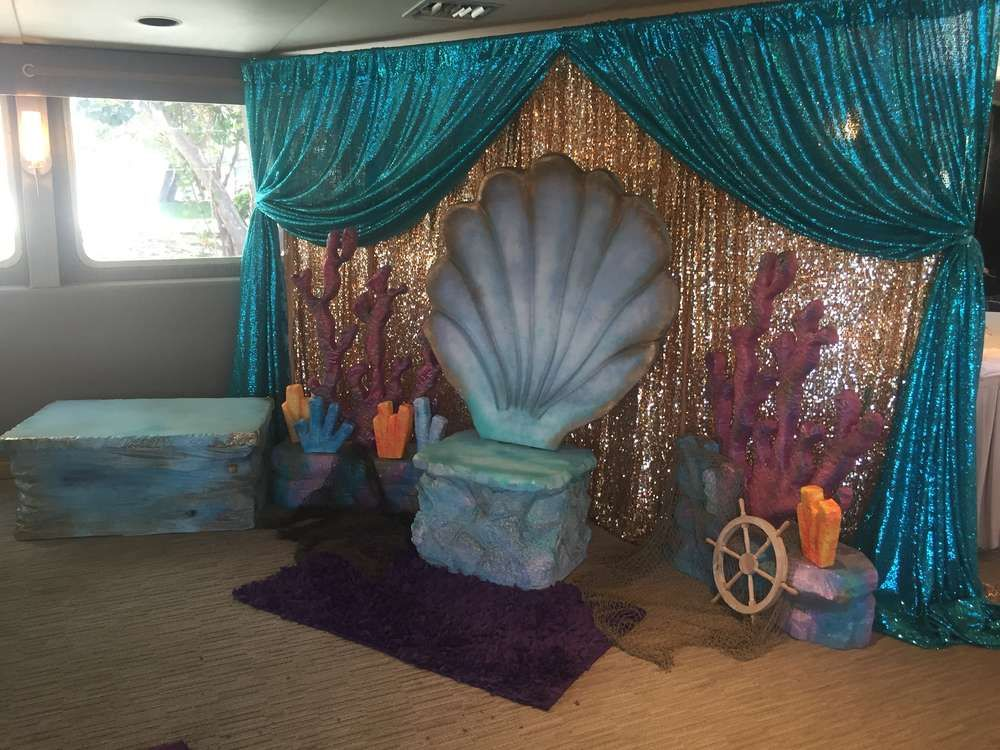 Mermaids baby shower party ideas mermaid babies and for Mermaid decorations for home