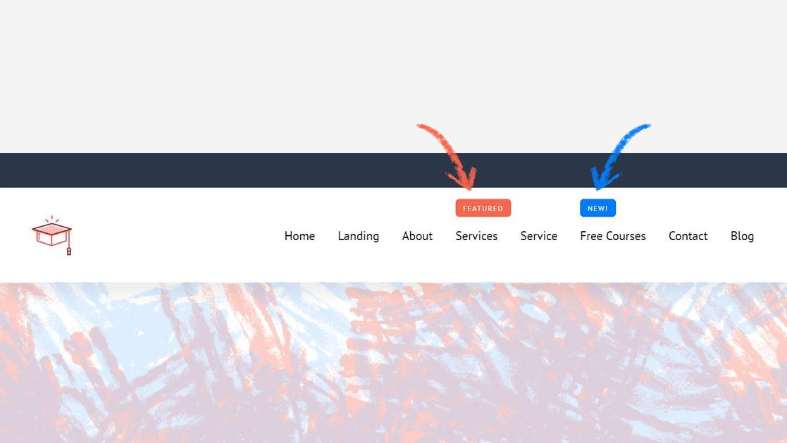 How To Add A New Or Featured Corner Label To A Menu Item In Your Custom Divi Header In 2020 Wordpress Theme Webseite Wordpress