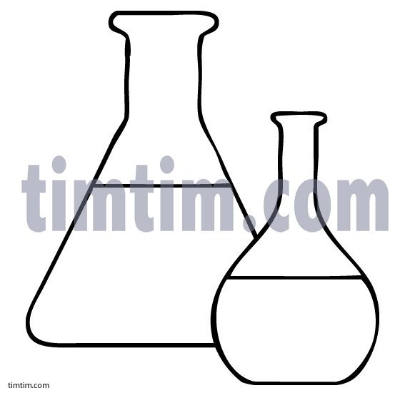 Free drawing of 2 Glass Beakers BW from the category