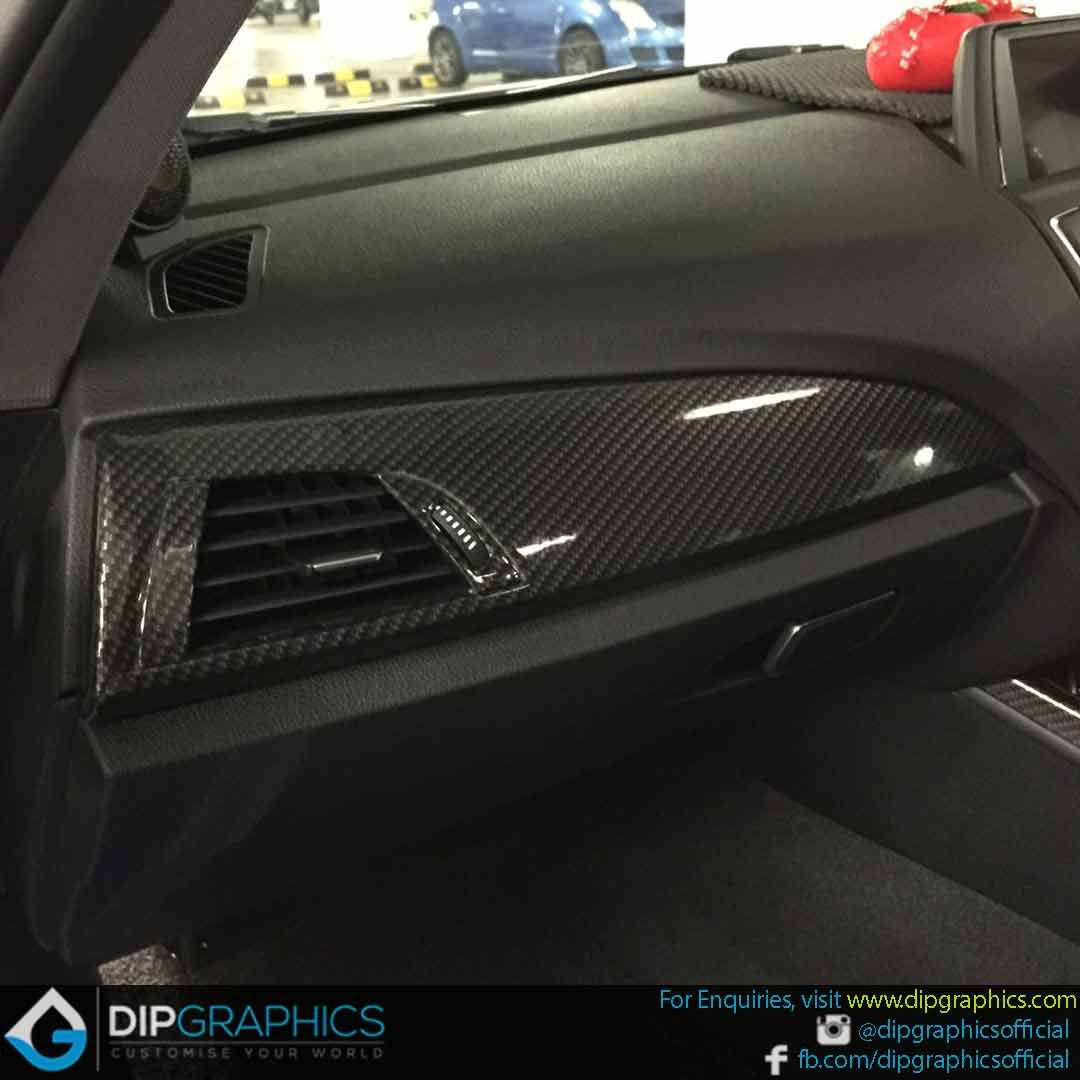 Hydro Dipped Bmw Interior Panel In Carbon Fiber 5 Automotive