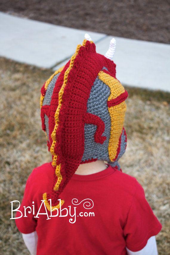Crochet Dragon Hat Pattern (PDF FILE) | Mütze, Häkelmützen und Freebooks