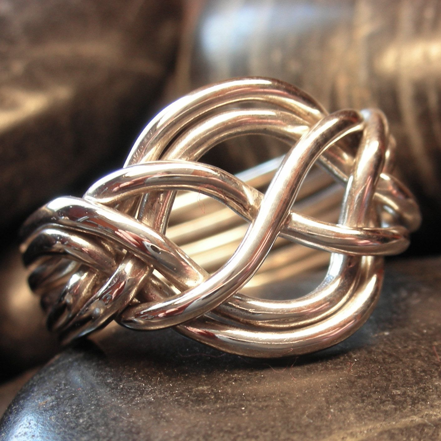 Sterling Silver Six Band Puzzle Ring Wider Style By Nellyvansee