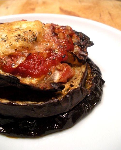 "Grilled eggplant ""Alla parmigiana""  check http://panelatte.tumblr.com/ for recipe"