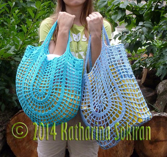 Nonstop net market bags: crochet pattern for purchase