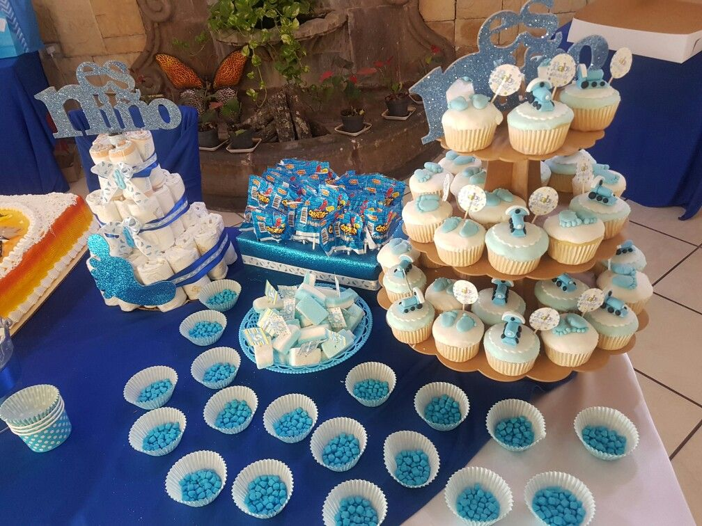Mesa de dulces baby shower azul baby shower ni o azul for Mesa de dulces para baby shower nino