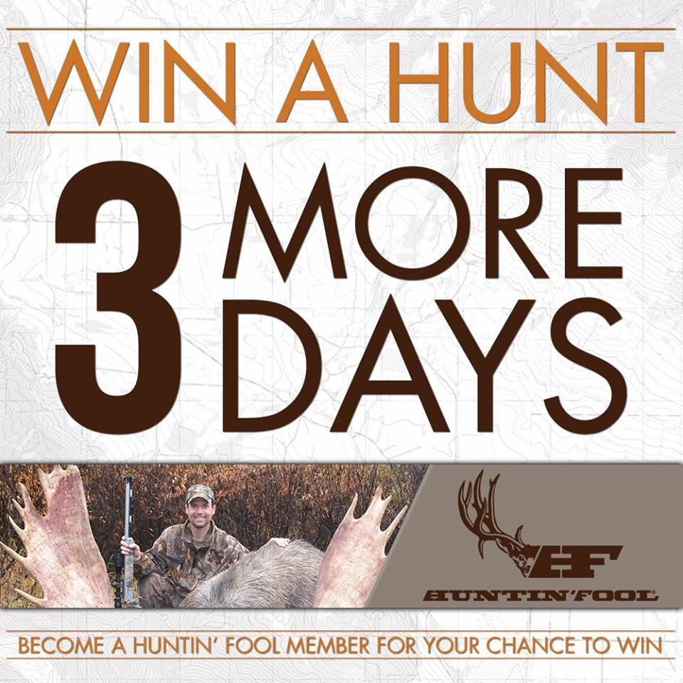 3 DAYS LEFT TO ENTER! Go to for