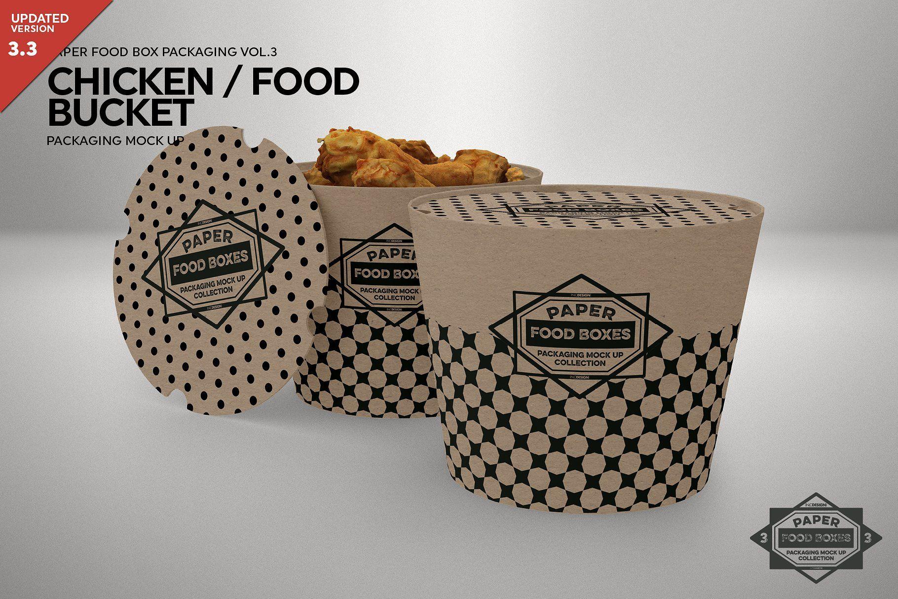 Download Paper Food Bucket Packaging Mockup Packaging Mockup Free Packaging Mockup Mockup Psd