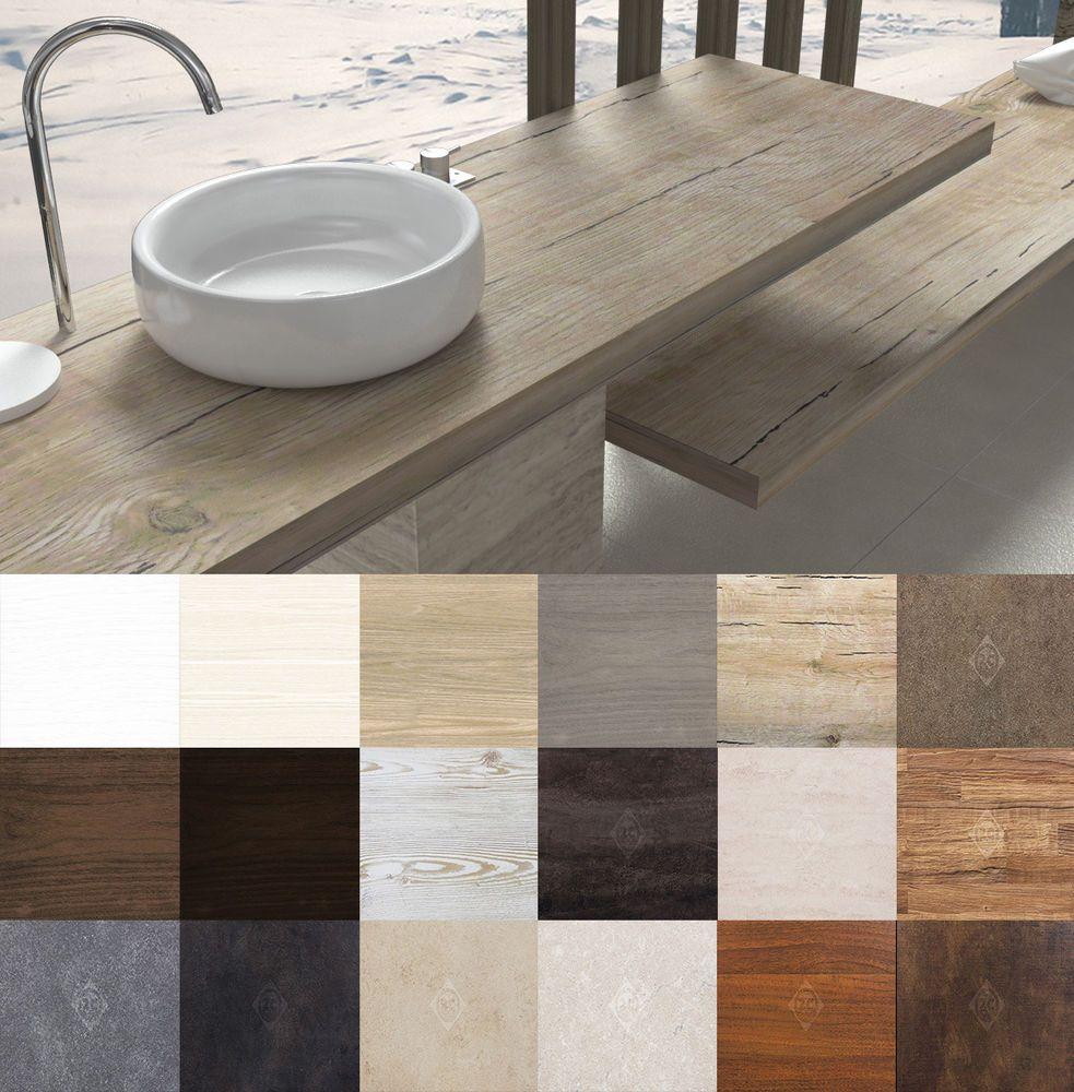 Piano Per Lavabo Da Appoggio mensola per lavabo top lavabo da appoggio in legno laminato