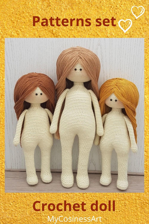 Doll body crochet pattern, Amigurumi Doll Pattern