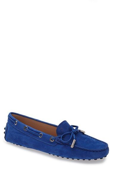 5995f7080b5 Tod s  Gommini  Tie Front Leather Driving Moccasin (Women) available at   Nordstrom