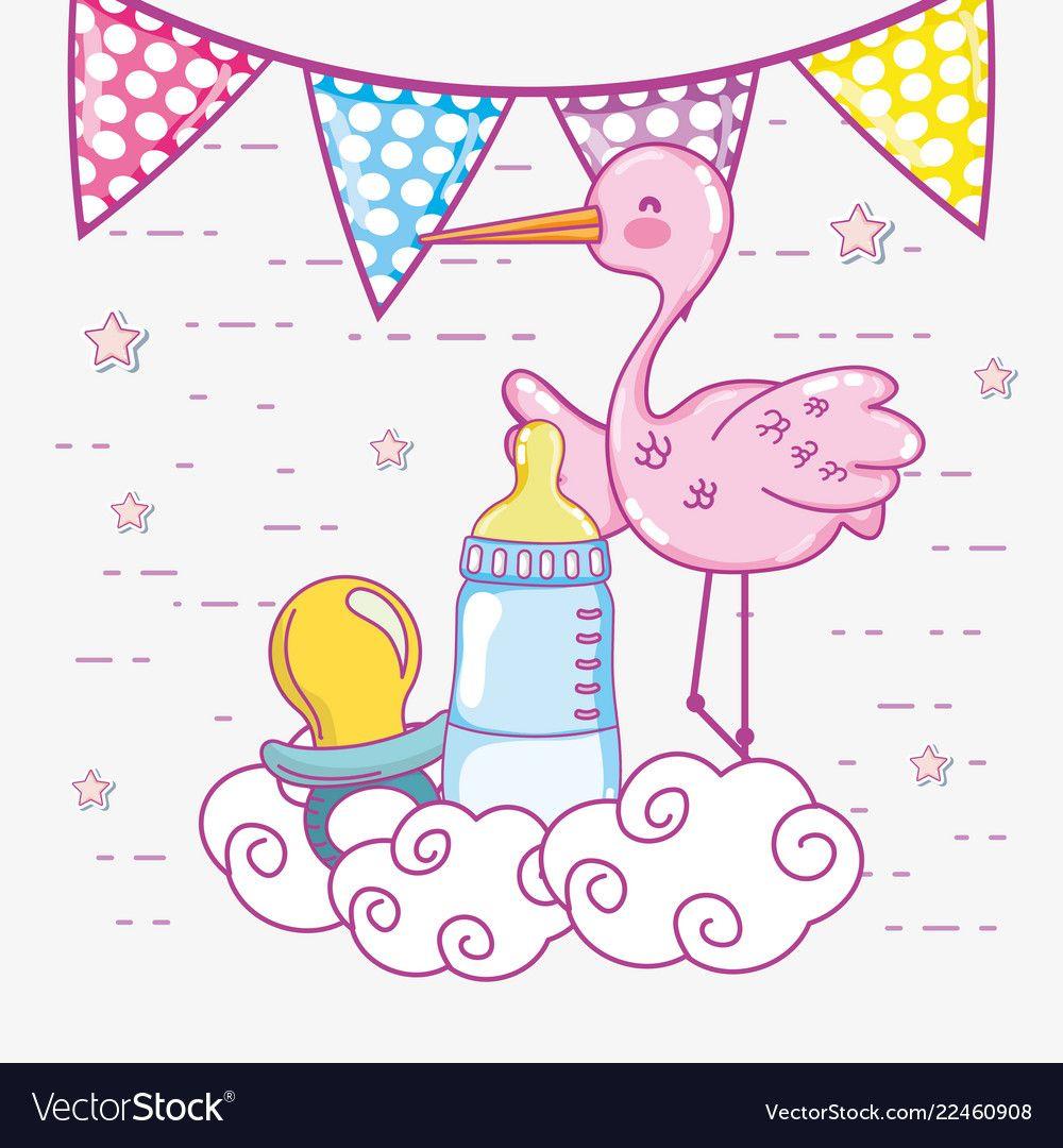 Baby shower cartoons vector image on Поделки