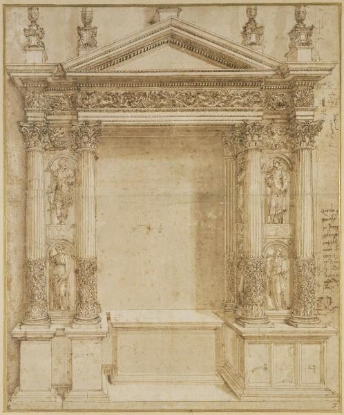 Design For An Altar, Ca. 1527 by Baldassare Peruzzi