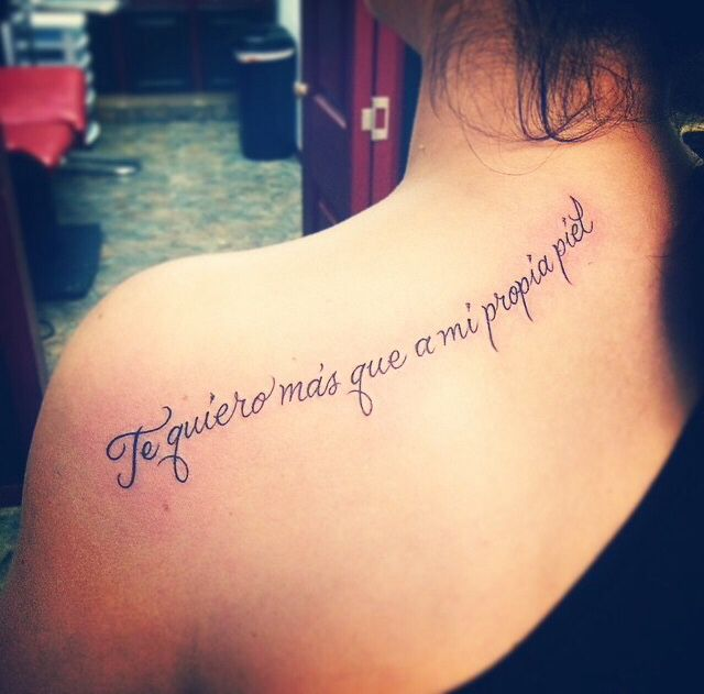 Tattoo Of Frida Kahlo Quote. Done At Black Rose Tattoo
