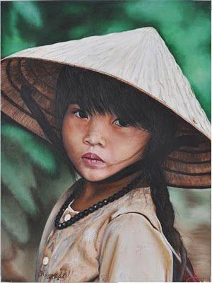 Pin De Elsy Verastegui En Rostros Pinturas Para Niñas Rostros Retratos
