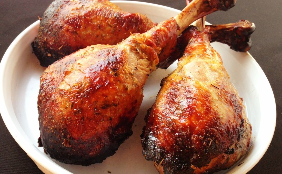 Paleo Grilled Turkey Legs