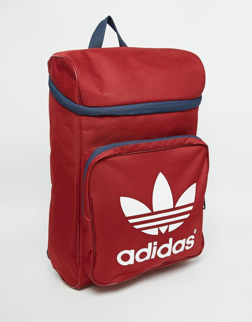 906e6edb9ab8 Image 2 of adidas Originals Classic Backpack in Burgundy