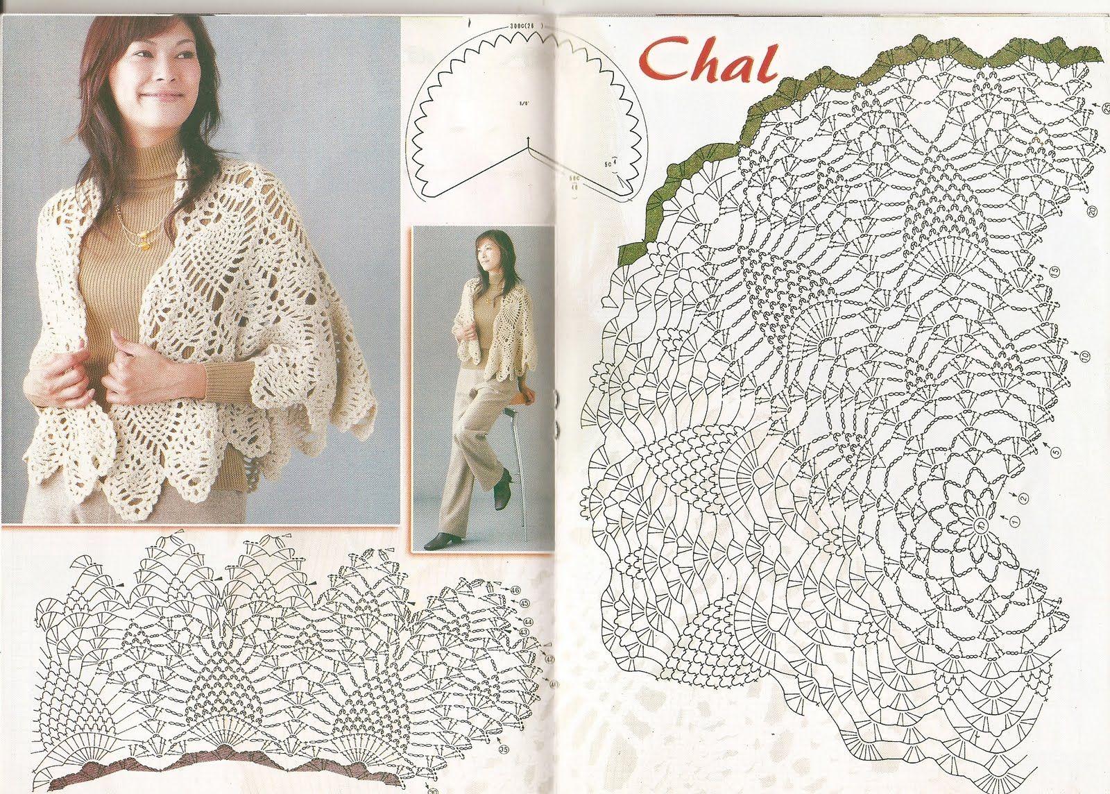 DE MIS MANOS TEJIDOS Y MAS...: Chal con punto piña crochet | Crochet ...