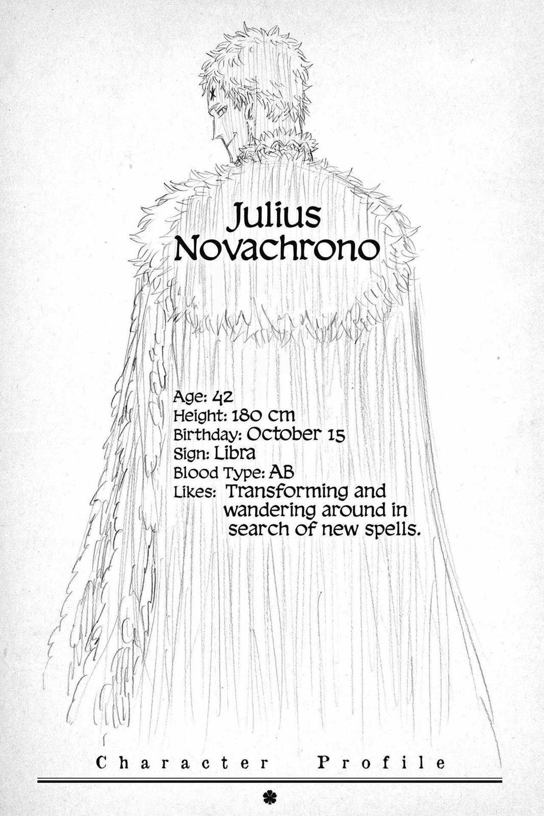Julius Novachrono Black Clover Anime Clover Black Your power is a bit little. pinterest
