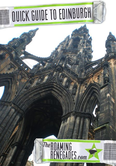A quick guide to Edinburgh. The hogwarts-esque Scottish capital! http://www.theroamingrenegades.com/2015/11/a-quick-guide-to-edinburgh-Scotland.html