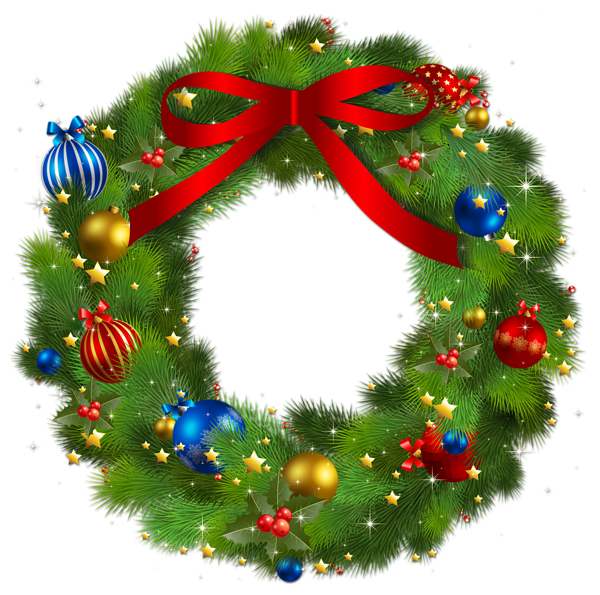 Transparent Christmas Pine Wreath With Red Bow Png Picture Christmas Wreaths Christmas Illustration Christmas Art