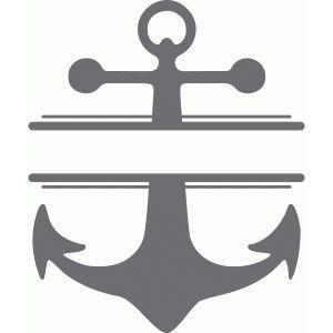 Split Anchor Monogram Plate