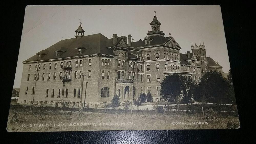 1914 St Joseph S Academy Adrian Michigan Rppc Real Photo Postcard Inbody Photo Ebay St Joseph Photo Postcards Michigan