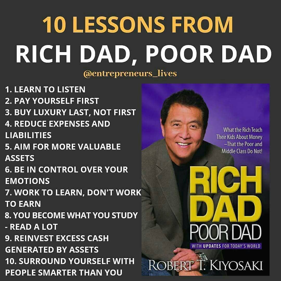 Entrepreneurs Lives On Instagram 10 Lessons From Rich Dad And