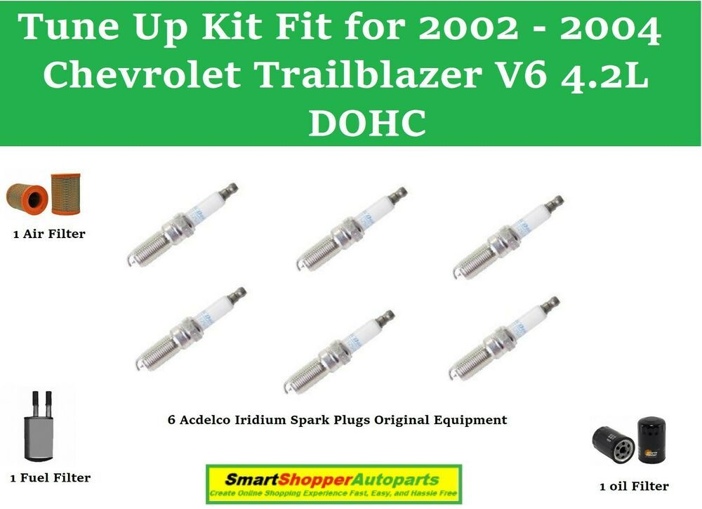 Spark Plugs Oil Air Fuel Filter Fit Totune Up 2002 2004 Chevrolet Trailblazer Acdelco Chevrolet Trailblazer Spark Plug Chevrolet