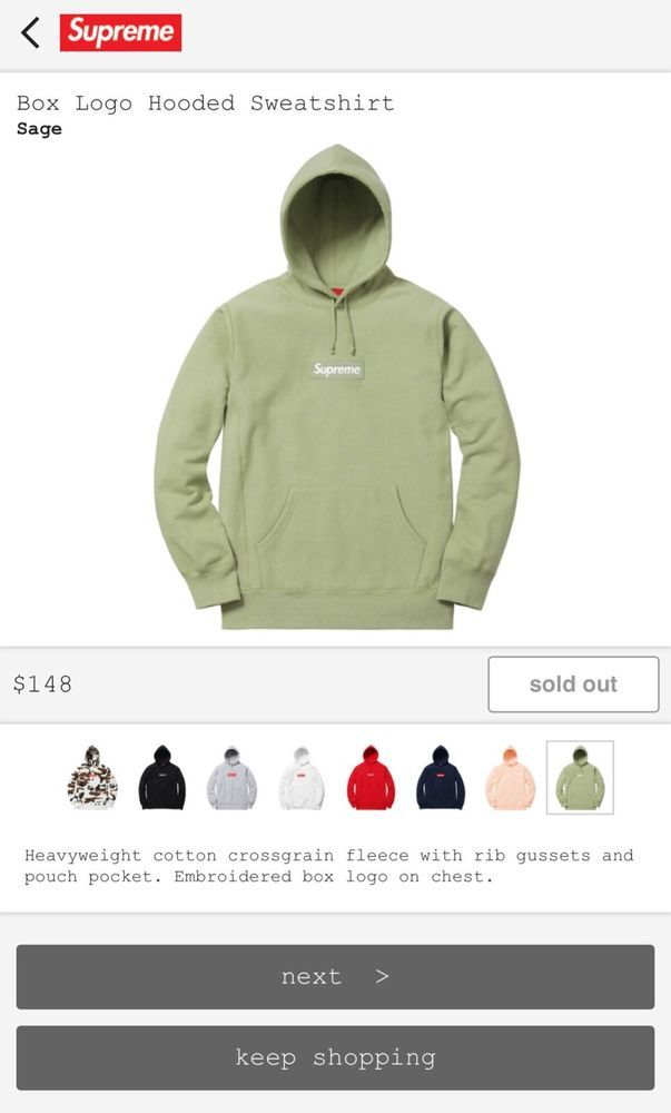 e1c2bea48fdf Supreme Box Logo Hoodie (Sage Green) (Large) New w  Tags! Rarest CW! No  Reserve!
