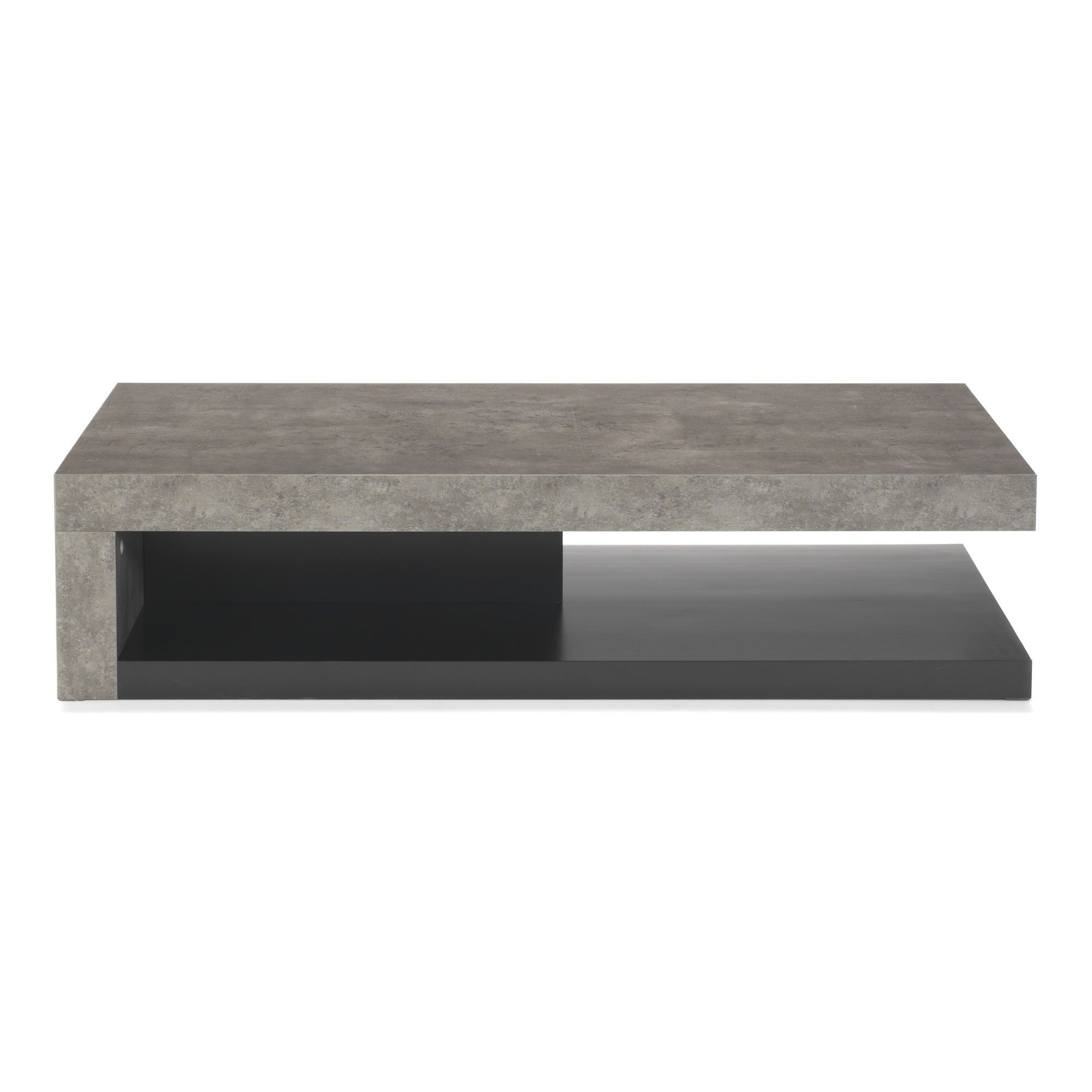 table basse effet b ton gris et noir hilo les tables. Black Bedroom Furniture Sets. Home Design Ideas