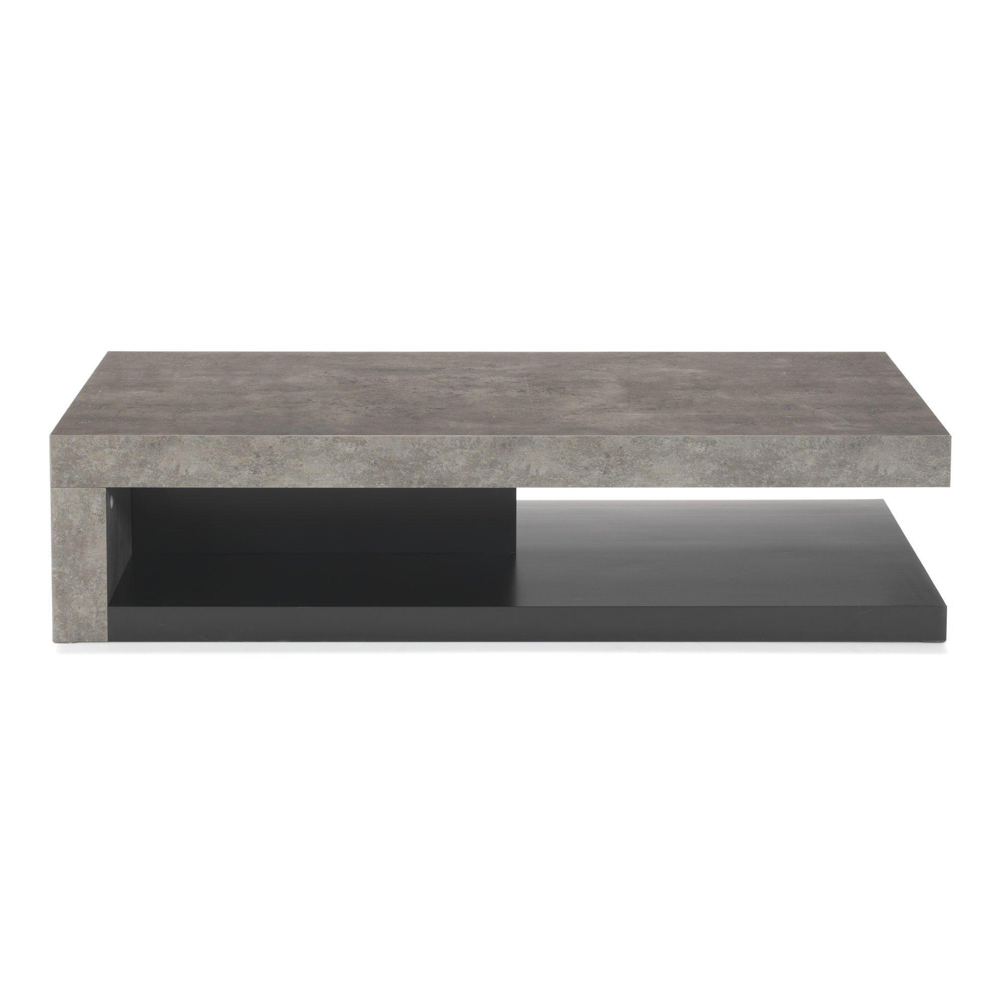 table basse effet bton gris et noir hilo les tables basses tables