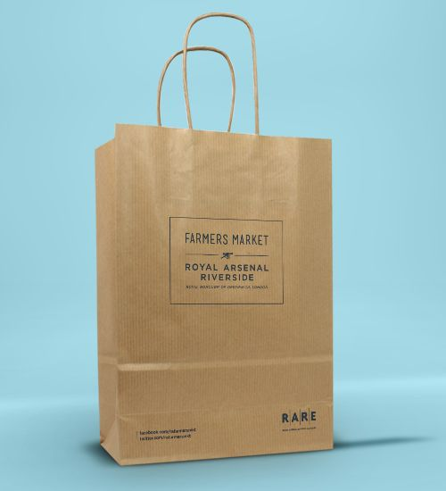 Increasingly Por With All Kinds Of Retailers Printed Kraft Paper Bags Are A Bester Available Fast Track Delivery And Full Cmyk Printing