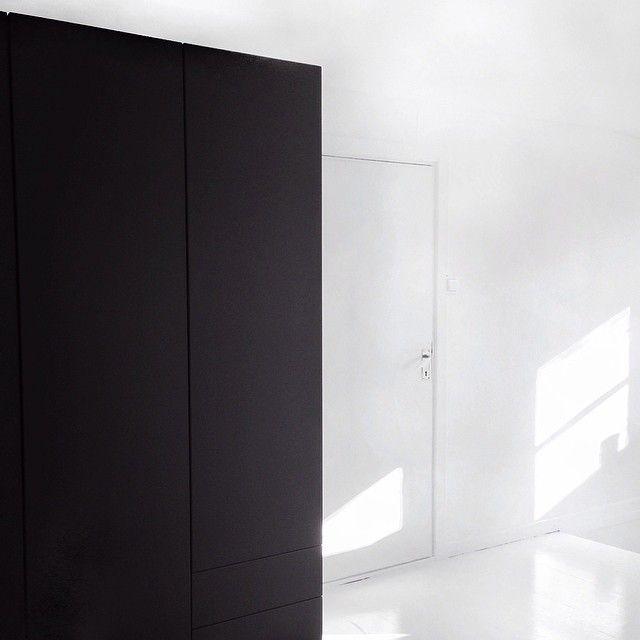 Annaleena On Instagram New Painted Black Wardrobe With Jotun Super Matte Black Color Jotun Black Wardrobe Tall Cabinet Storage Modern Decor