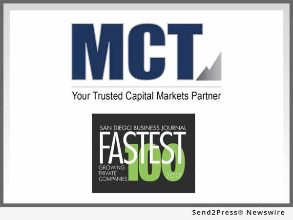 San Diego Business Journal Ranks Mortgage Capital Trading On Its